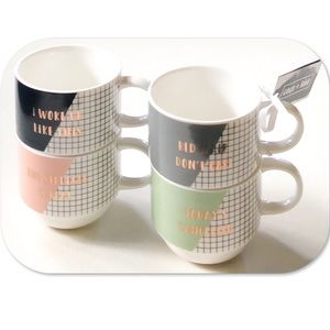 Coco + Lola Set Of 4 Coffee Cups